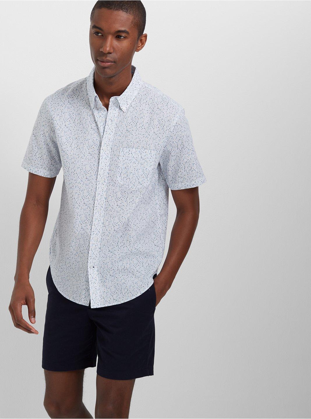 Slim Short-Sleeve Dots Shirt