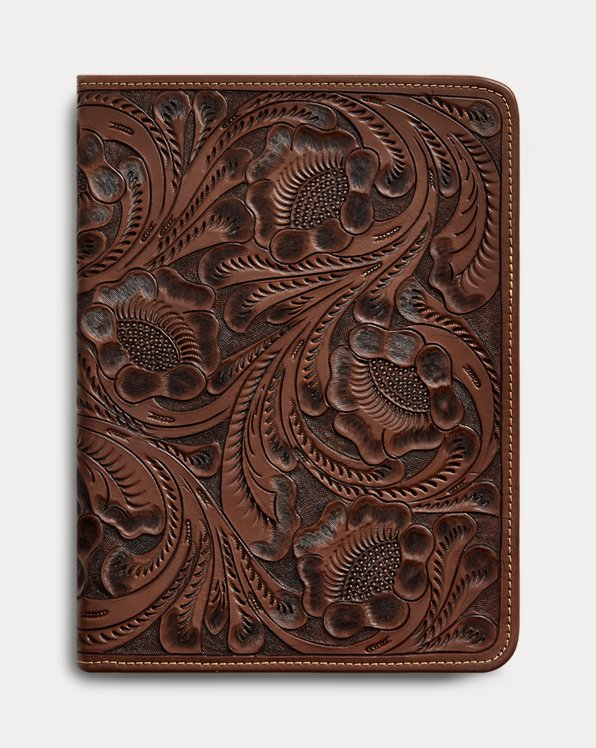 Hand-Tooled Leather Portfolio