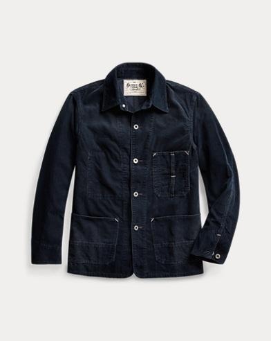 Indigo Corduroy Chore Jacket