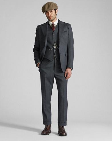 Wool Flannel Suit Jacket