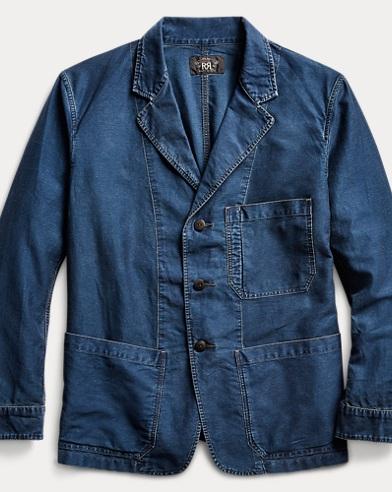 Slim Indigo Moleskin Jacket