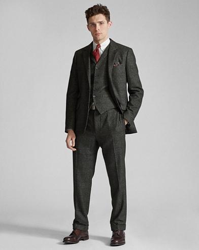 Plaid Wool-Blend Suit Jacket
