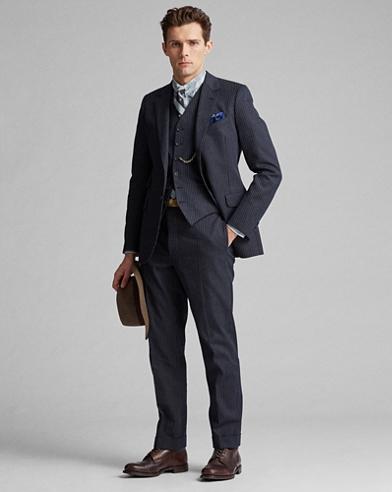 Slim Pinstripe Suit Trouser