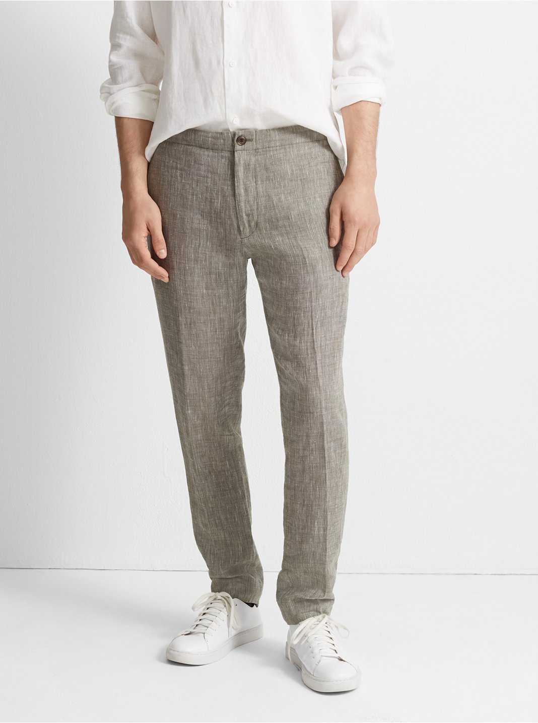 Suffolk End-On-End Linen Pant
