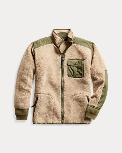 Ripstop-Paneled Fleece Jacket