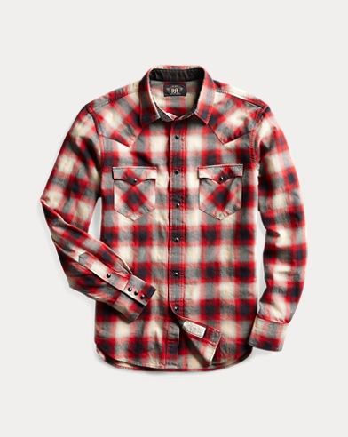 Slim Fit Plaid Western Shirt