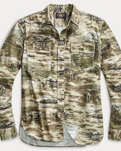 Print Flannel Workshirt