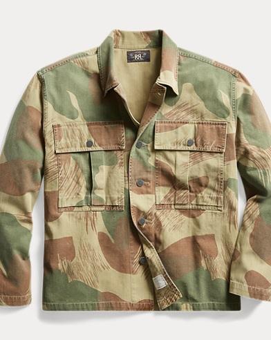 Camo Herringbone Overshirt