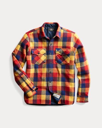 Plaid Wool Twill Overshirt