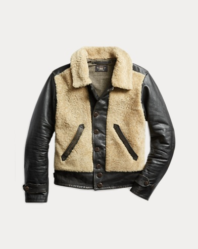 Shearling-Leather Moto Jacket