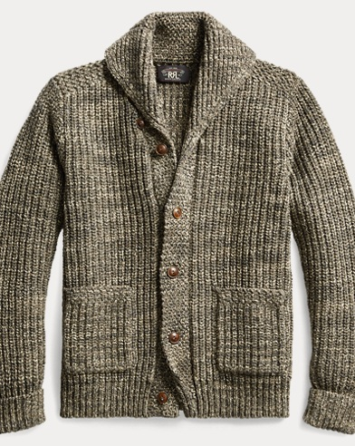 Cotton-Wool Shawl Cardigan