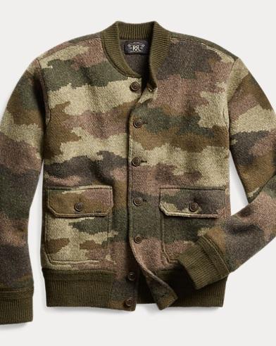 Camouflage Wool Cardigan
