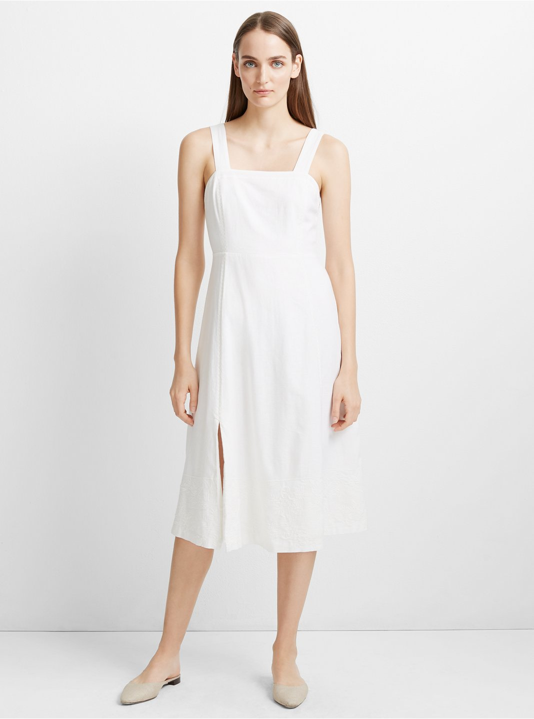 Jaylinne  Linen-Blend Dress