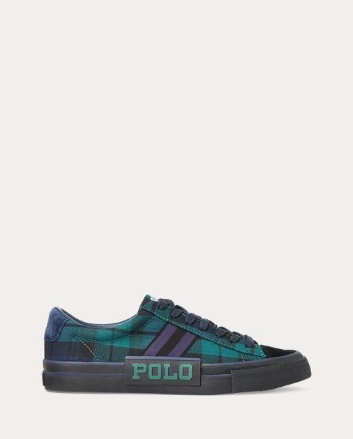 Sayer Tartan Canvas Sneaker by Ralph Lauren