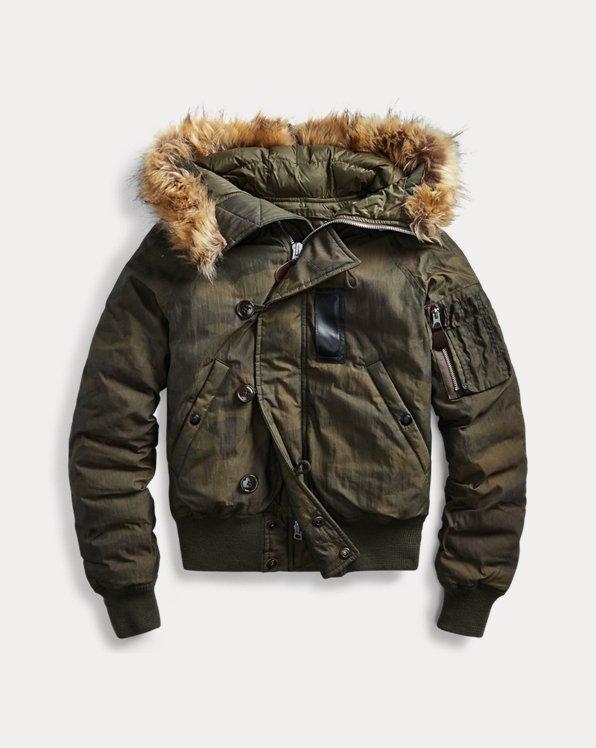 Faux Fur-Trim Jacket