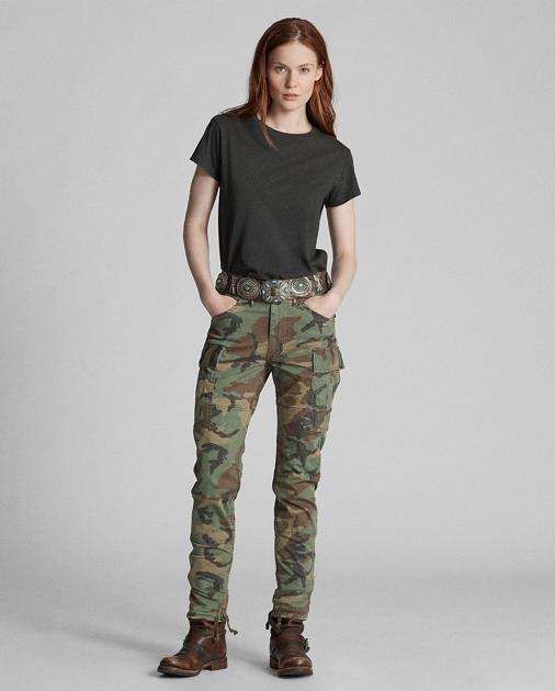 Camo Skinny Cargo Pant by Ralph Lauren