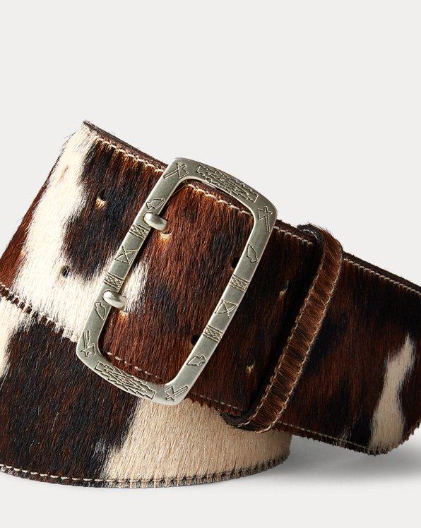 Large ceinture en poil de vachette