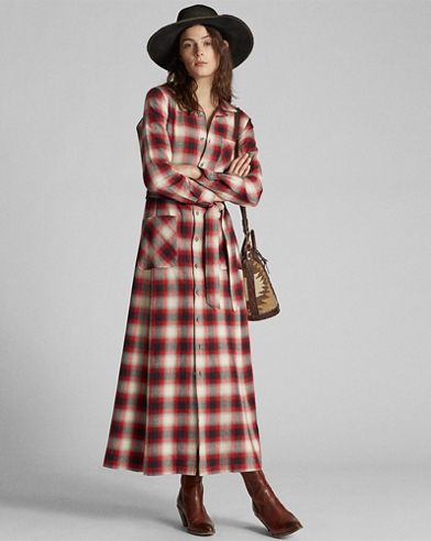 Plaid Cotton Camp Dress