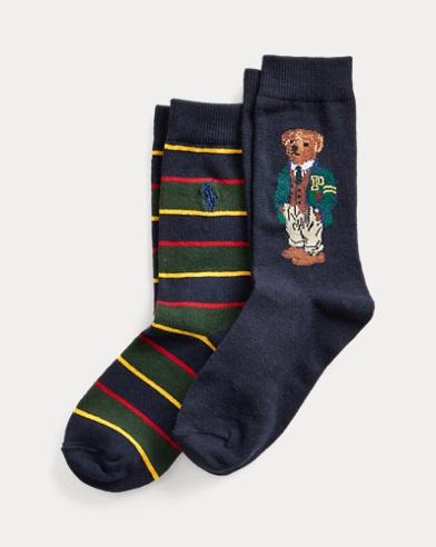 Due paia di calze sportive con Polo Bear