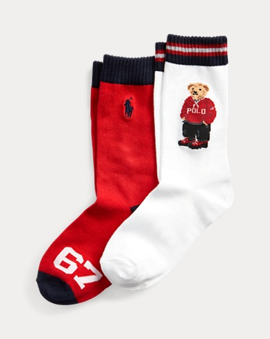 2er-Pack Crew-Socken mit Polo Bear