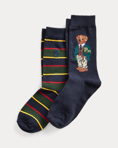 Polo Bear Crew Sock 2-Pack