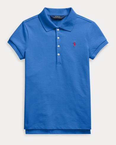 Stretch Cotton Mesh Polo