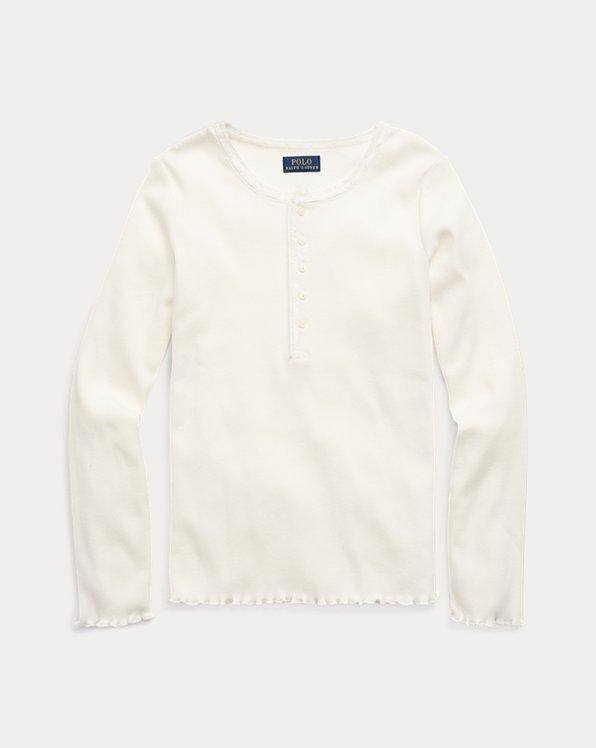 Maglietta serafino in cotone