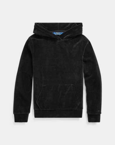 Cotton-Blend-Velour Hoodie