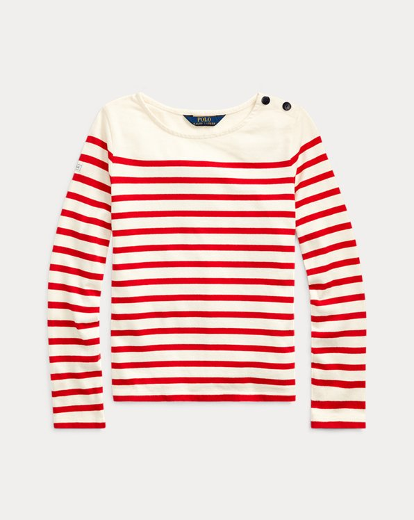Striped Cotton Jersey Top