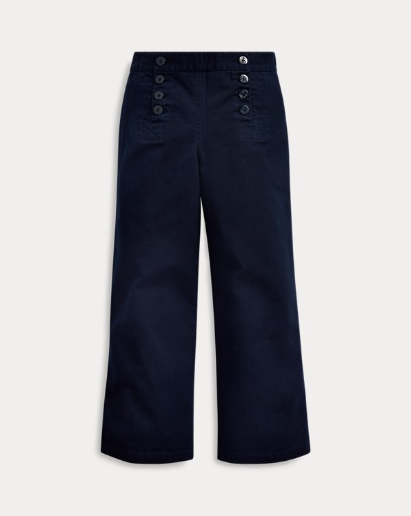 Cotton Twill Sailor Trouser