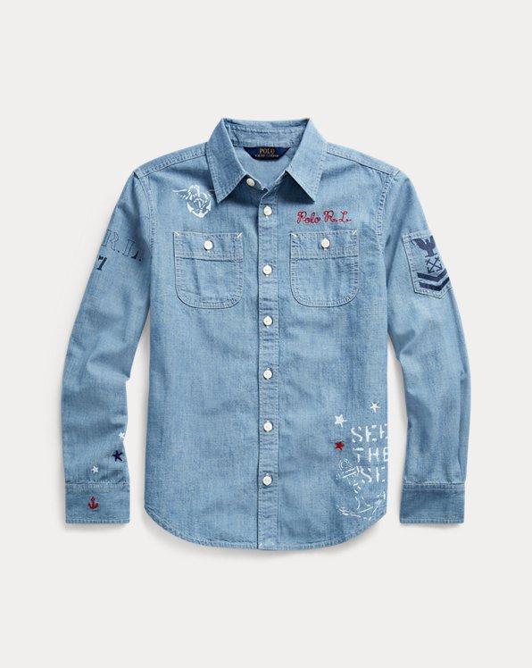 Nautical Cotton Chambray Shirt