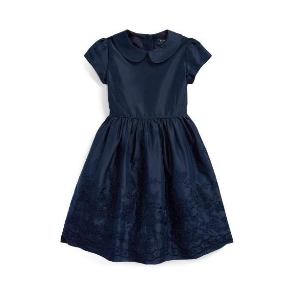 폴로 랄프로렌 여아용 원피스 Polo Ralph Lauren Embroidered Silk Dress,French Navy