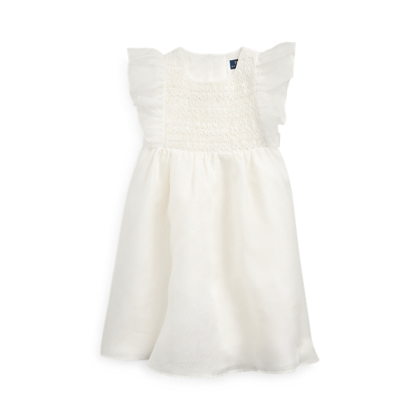 폴로 랄프로렌 여아용 원피스 Polo Ralph Lauren Smocked Silk Organza Dress,Nevis