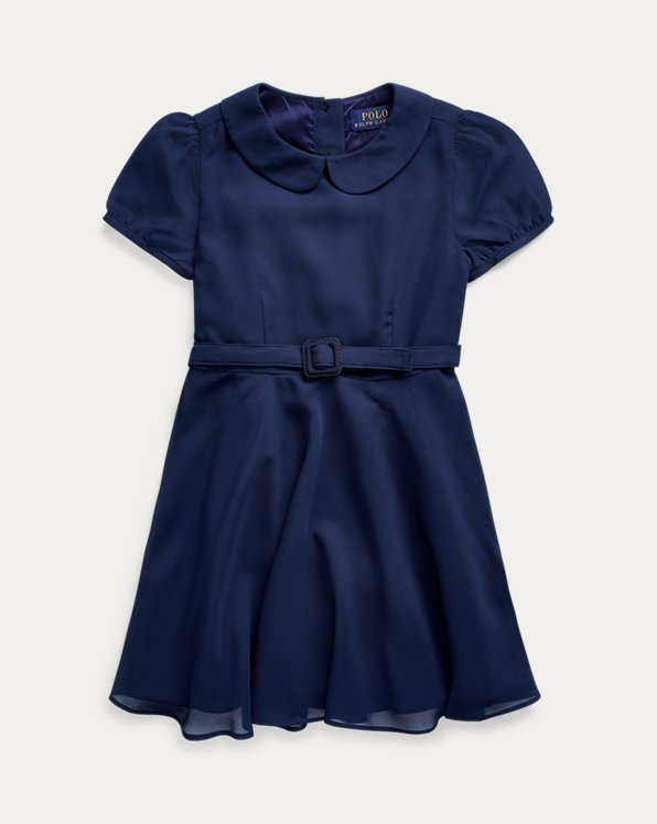 Belted Chiffon Dress