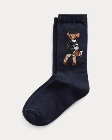 Crew-Socken mit Equestrian Bear