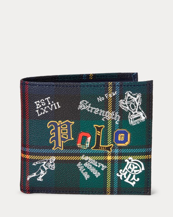 Tartan Faux-Leather Billfold