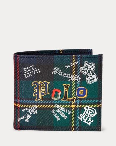 Porte billets simili cuir écossais
