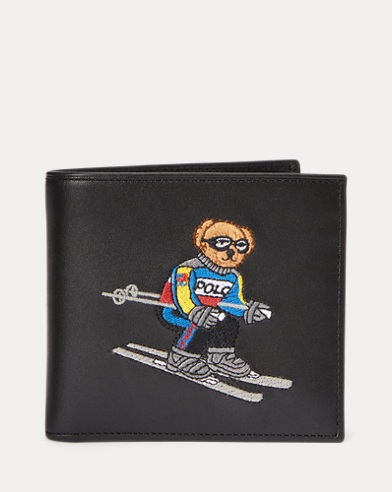 Ski Bear Leather Billfold