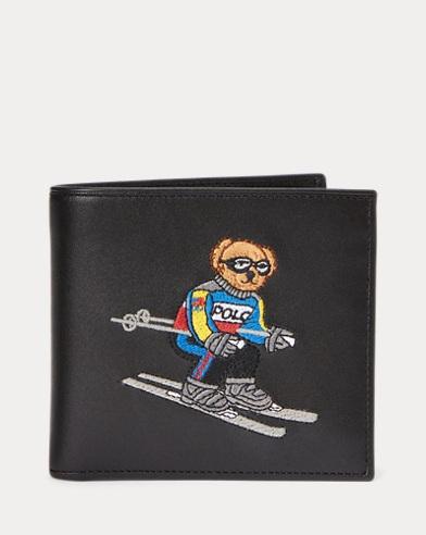 Portafoglio in pelle Ski Bear