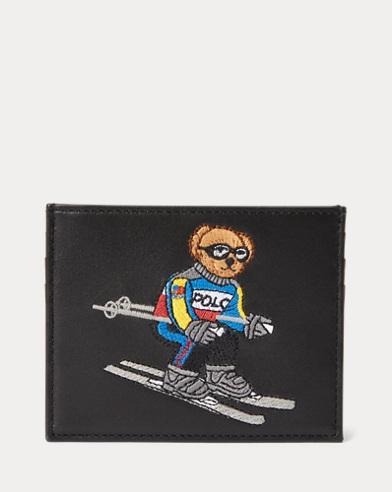 Porte-cartes Ski Bear en cuir