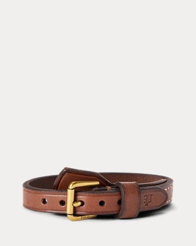 Luggage-Flap Leather Bracelet