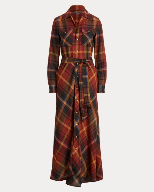 Plaid Wool Shirtdress by Ralph Lauren