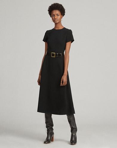 Short-Sleeve A-Line Dress