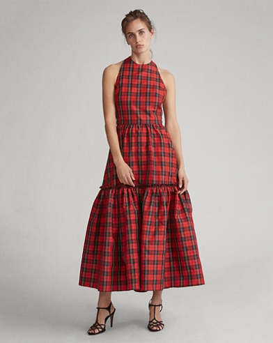 Tartan Self-Tie Dress