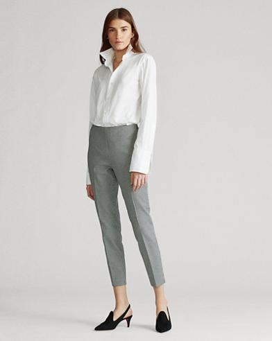 Pantaloni skinny pied-de-poule