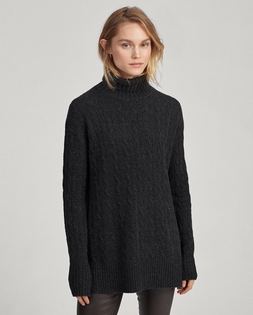 Polo RalphLauren Cable-Knit Turtleneck Sweater