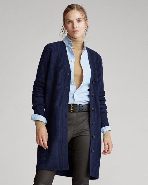 Polo Ralph Lauren Ribbed Wool-Blend Cardigan 1