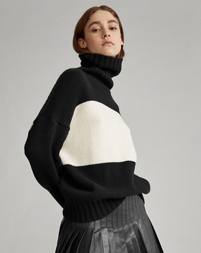 Color-Blocked Wool Sweater