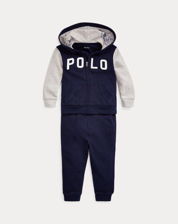 Cotton Terry Hoodie & Trouser Set