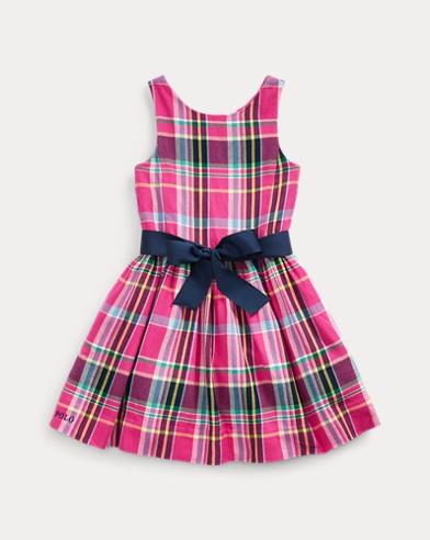 Plaid Cotton Twill Dress